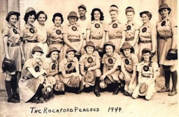 all american girls baseball league - 795×539