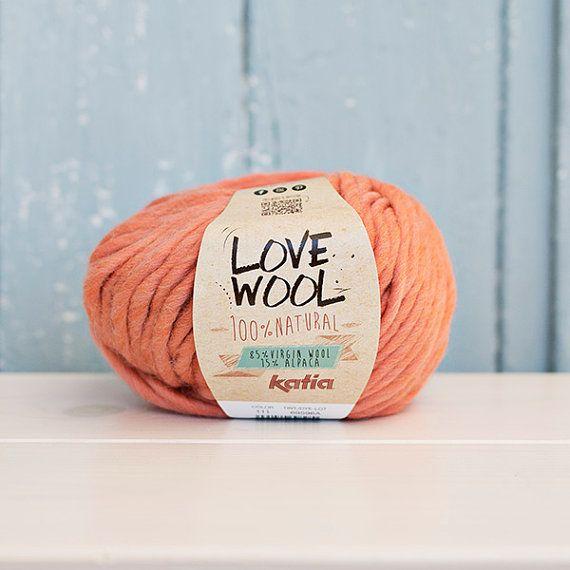 Love wool Yarn Wool & Alpaca Coral by Soulmadehome on Etsy