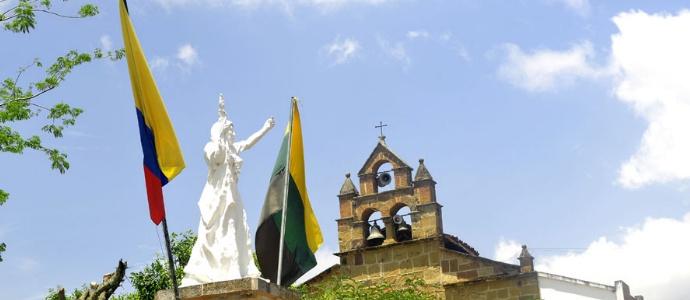 Pinchote Santander Colombia  Monumento a Antonia Santos heroína de la revolución comunera