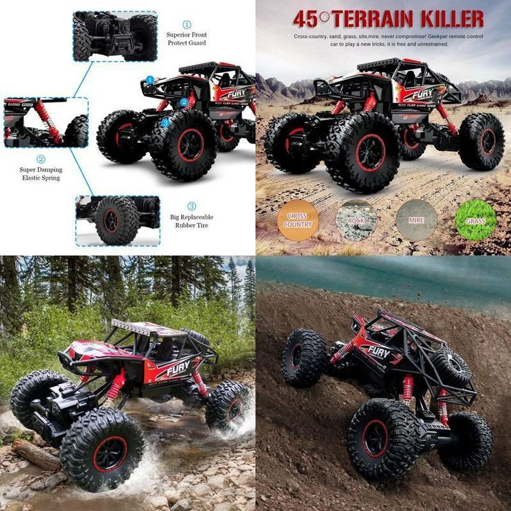 RC Vehicle Remote Control Toys Big Foot Jeep Black Boys Girl Barbie Doll Car New