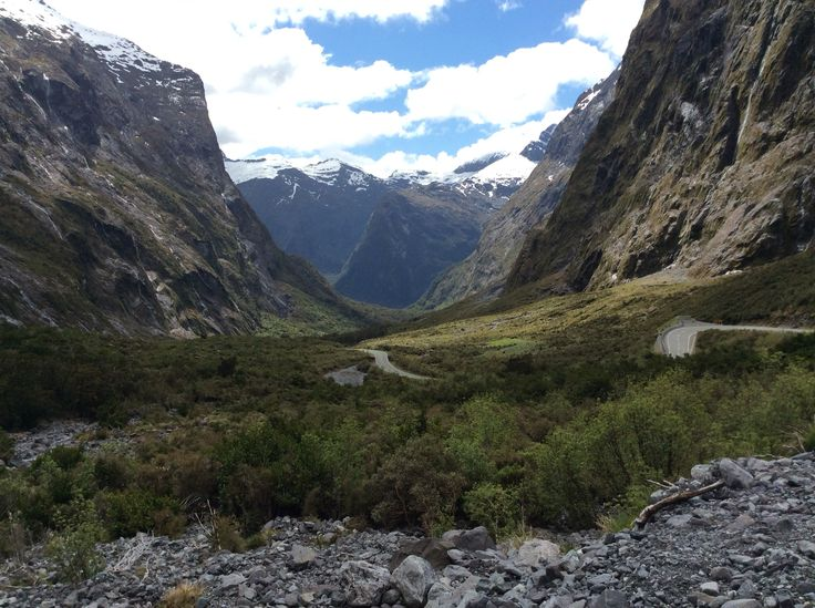 To Milford Sound after the Homer tunnel