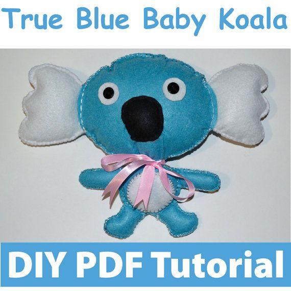 True Blue Koala PDF Tutorial INSTANT DOWNLOAD by vitbich on Etsy, $6.00