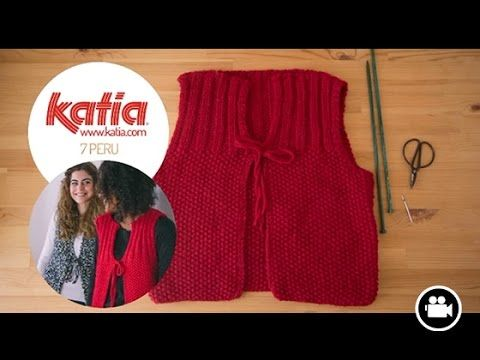 DIY Tejer Chaleco • Knit Waistcoat • Tricoter Gilet Peru