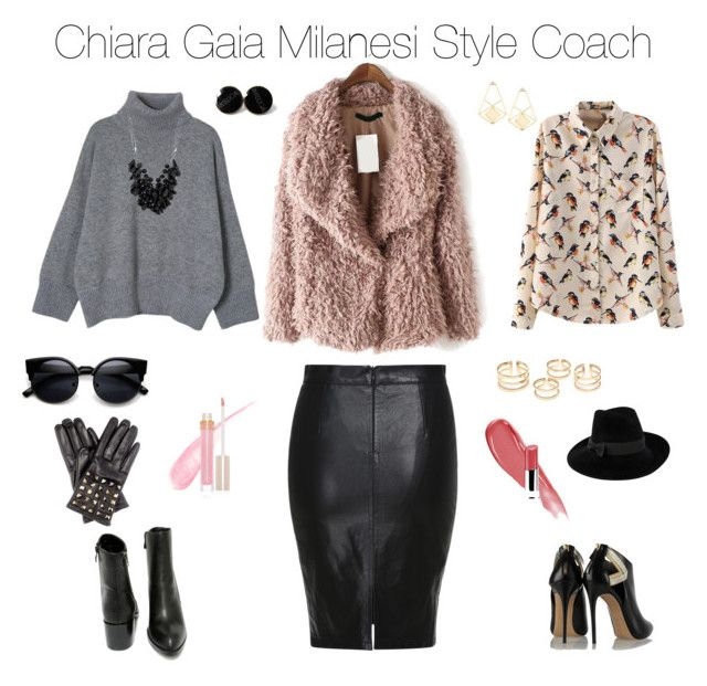 """""""Outfit of the day"""" by chiaragaia on Polyvore featuring Casadei, Very Volatile, Betty Jackson, Mademoiselle Slassi, Stila, Lancôme, Valentino, women's clothing, women's fashion and women"""