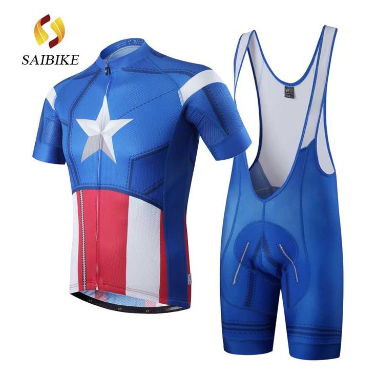 Cycling Jersey set 2017 saiBike brand America Captain short sleeve cycling shirt Bike bicycle clothes Clothing Ropa Ciclismo #Affiliate