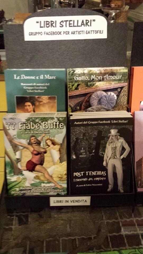 """""""Le Donne e il Mare"""", """"Gatto, Mon Amour"""", """"77 Fiabe Buffe"""", """"Post Tenebras. I racconti del cimitero"""".  Libri pubblicati da Youcanprint.  http://libristellari.webnode.it"""