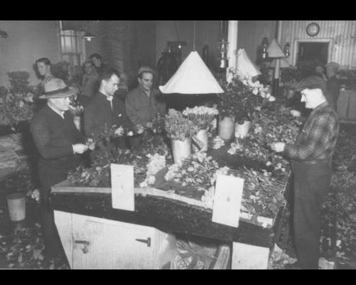 Interior of the H.J. Mills florist operation in 1948. How would you #CaptionThis ?