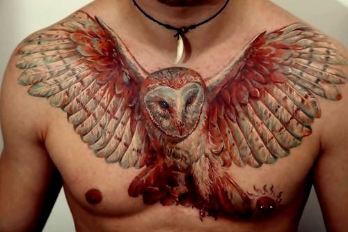 open wing owl tattoo back - Google Search