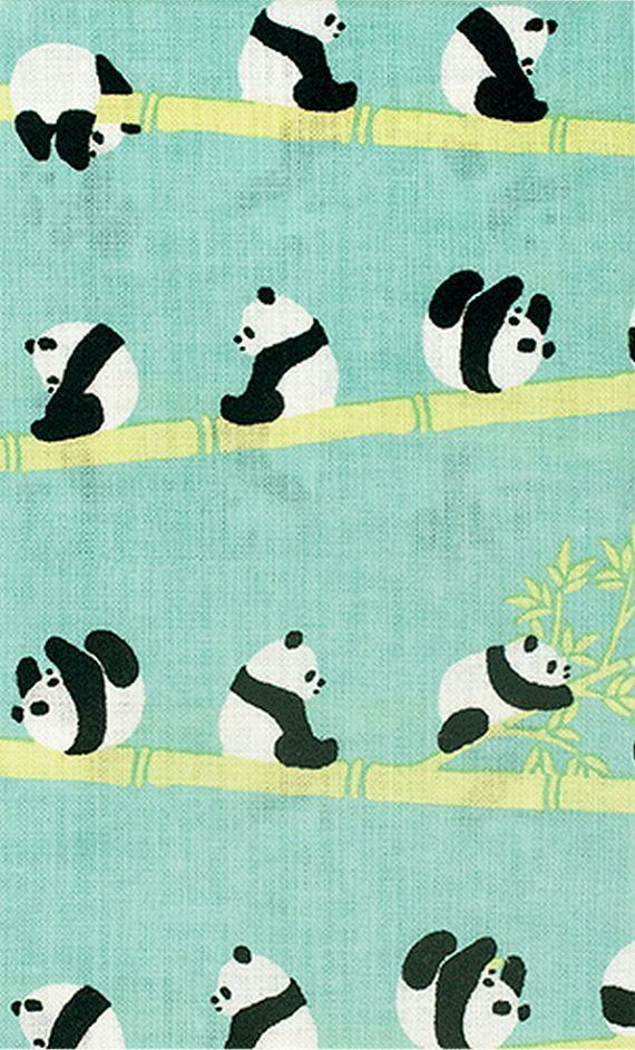 Japanese Tenugui Cotton Fabric, Hand Dyed Animal Print Fabric, Kawaii & Funny Sport Panda, Panda Decor Gifts, Cute Home Decor Wall Art, JapanLovelyCrafts