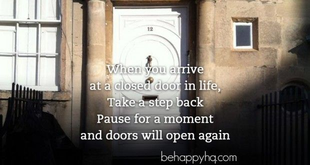 The Automatic Sliding Door, What do you do when you arrive at a closed door in life, take a step back, pause for a moment and doors will open.