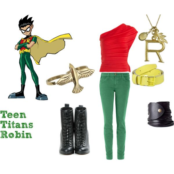 """Teen Titans Robin"" by crazyprncss on Polyvore"