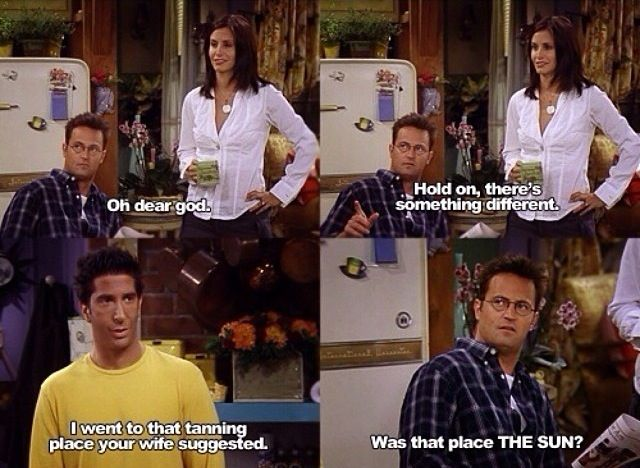 Ross, Monica and Chandler  Friends tv show Funny quotes