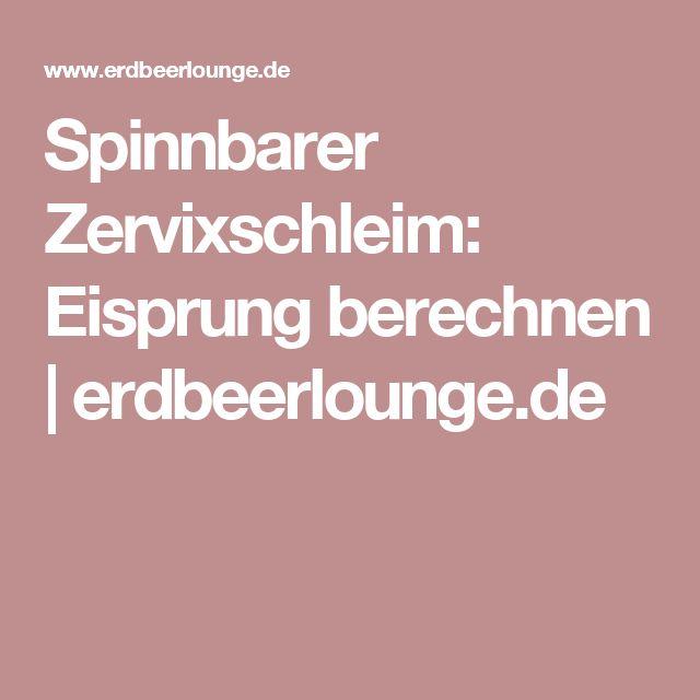 Spinnbarer Zervixschleim: Eisprung berechnen   erdbeerlounge.de