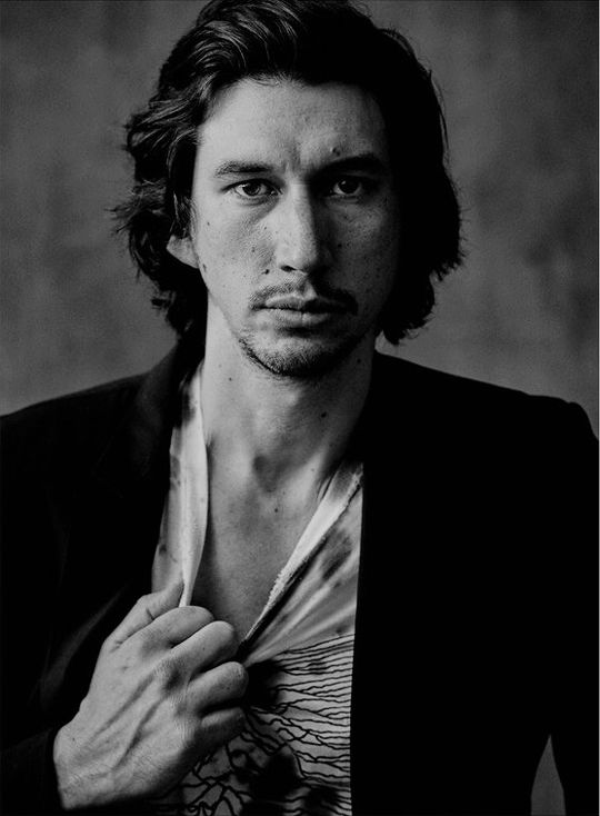 Adam Driver photographed by Matthew Brookes for British GQ (December 2017)