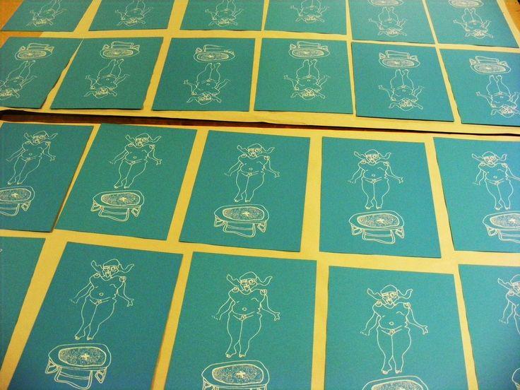 Gravity A4 Screen-Print
