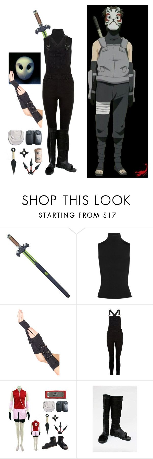 """MY FIRST COSTUME PARTY  (Anbu Black Ops)"" by appleface80 ❤ liked on Polyvore featuring Acne Studios, New Look, men's fashion and menswear"