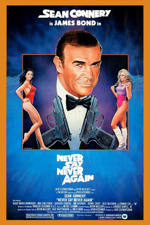 """Never Say Never Again (1983) This James Bond movie is considered """"unofficial"""". The true James Bond franchise produced by Eon Productions, producer Cubby Broccoli (1909-1996) and now by Michael Wilson and Barbara Broccoli."""