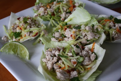 One of my favorite Thai foods - but we make it with ground chicken - low fat, low carb, and DELICIOUS