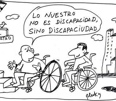 """""""Lo nuestro no es discapacidad, sino discapaciudad"""""""
