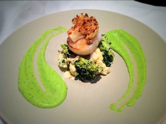 Scallops with Broccoli and Cauliflower risotto. - Fine Dining Recipes | Food Blog | Restaurant Reviews | Fine Dining At Home