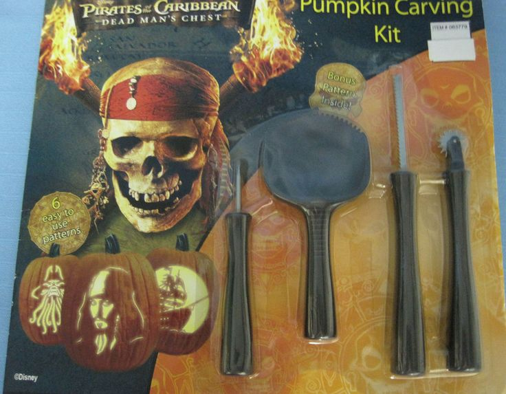 Halloween Pumpkin Carving Kit Pirates of the Caribbean Pattern Book & Tools