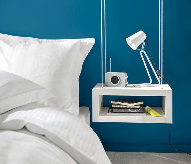 les 46 meilleures images du tableau d co bleu sur pinterest couleur peinture le papier et. Black Bedroom Furniture Sets. Home Design Ideas