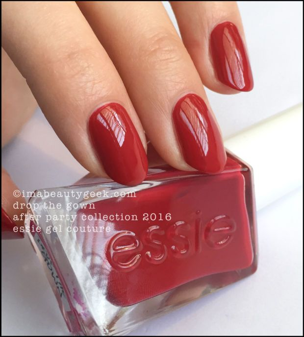 Essie Drop the Gown - Essie Gel Couture 2016. All the swatches & review at imabeautygeek.com