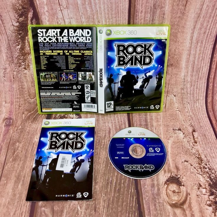 Rock Band video Game Xbox 360 live pal 12+ rock & roll all time classics music