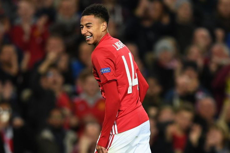 Jesse Lingard of Manchester United celebrates after scoring Manchester United's fourth goal