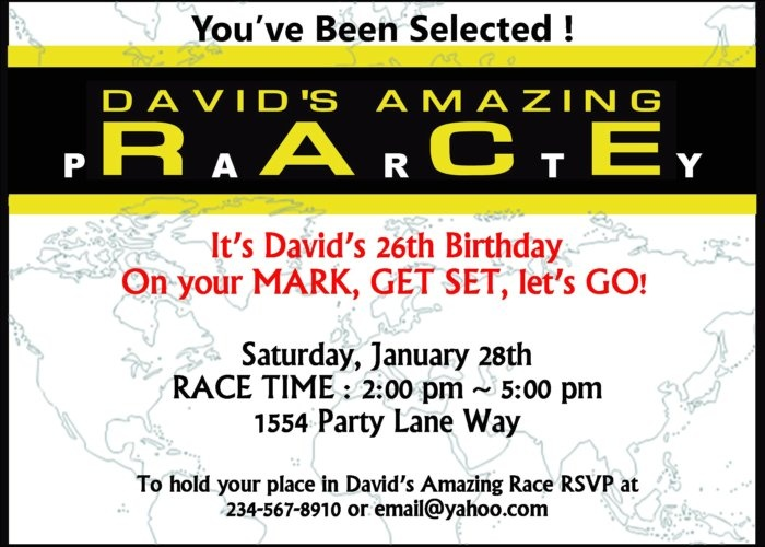 Amazing Race party supplies and invitations!   Amazing ...