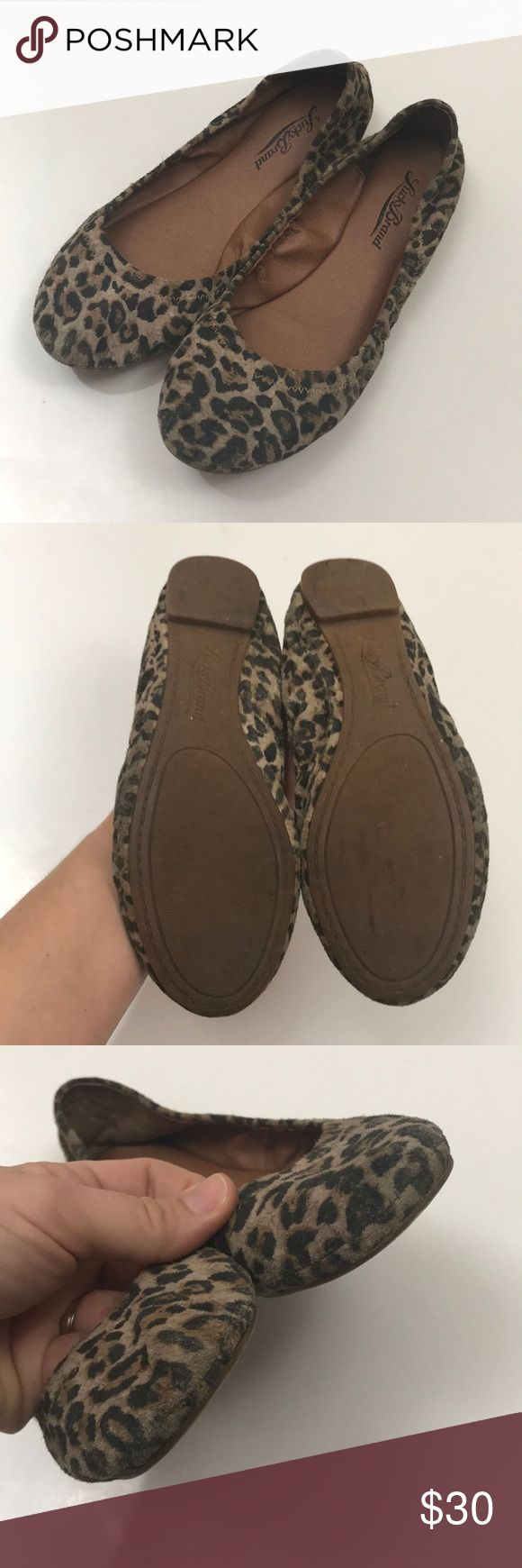 "Lucky Brand Animal Print Ballet Flats Condition - good shape, normal wear from wearing  Color- multi   Measurements - bottom of the sole Toe to heel - 9.5"" Widest part - 2.75"" Heel - .25""  No box.   S12117/0 Lucky Brand Shoes Flats & Loafers"
