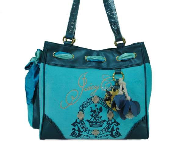 Juicy Couture Heart Charm Handbag In Blue   $65.00