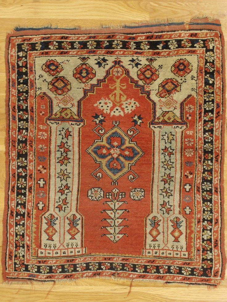 Canle Prayer Rug From Western Turkey Age Circa 1865 Size 3