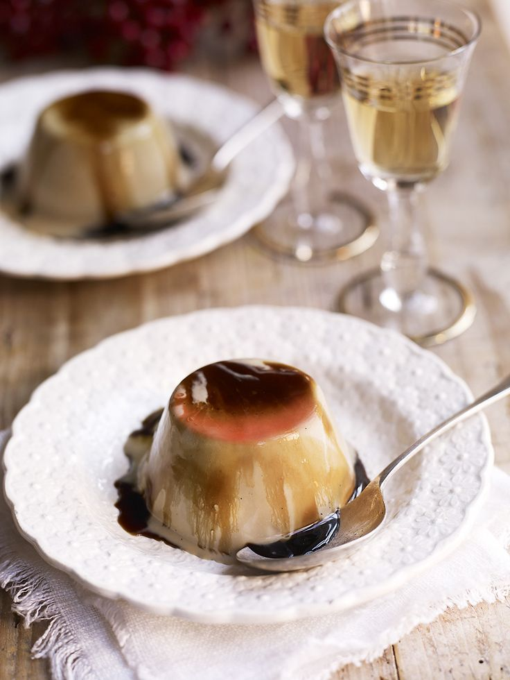 A smooth, creamy, elegant dessert for coffee-lovers with a decadent boozy syrup.