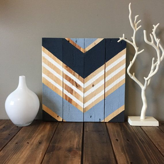 Modern rustic wood chevron sign by SamBeeDesigns on Etsy