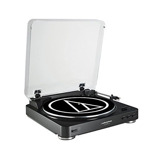 Audio Technica AT-LP60BK Fully Automatic Belt-Drive Stereo Turntable, Black   Built-in pre-amp + low signal/noise ratio