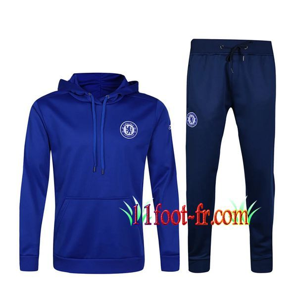Survetement Foot de Sweat a Capuche FC Chelsea Bleu 2017 2018