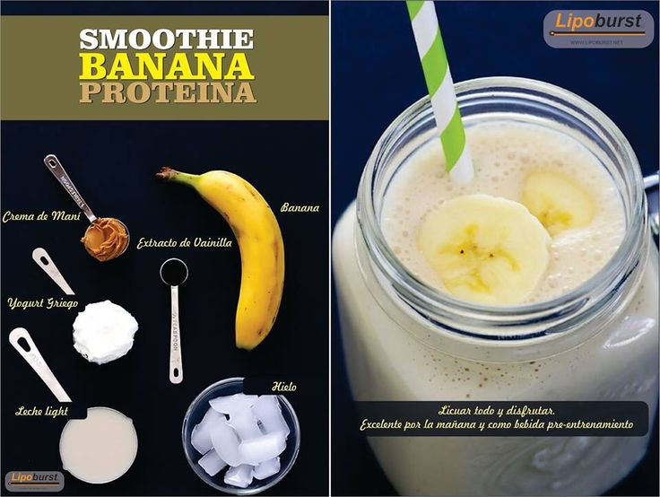 Batido de banano (Proteína)