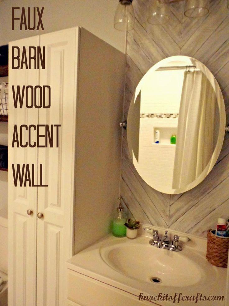 Faux Barn Wood Accent Wall @ knockitoffcrafts.com   Wood ...