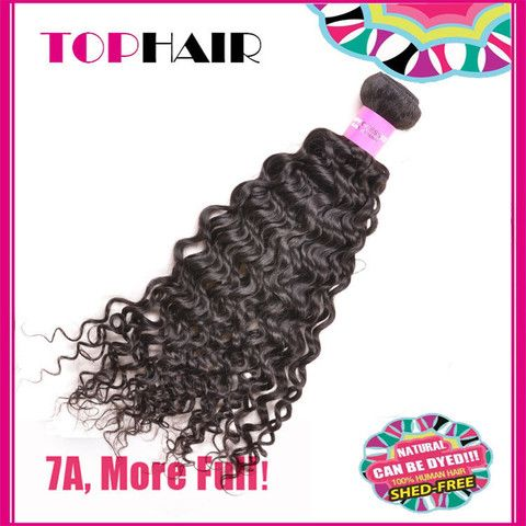 7A Peruvian Curly Wave Virgin Human Hair Weft Extensions