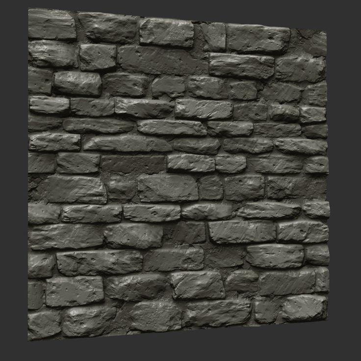 ArtStation - heavy stone wall sculpt, Bobby Rice Textures