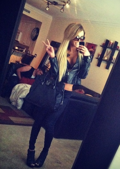Spring Outfit - all Black - Leather Jacket