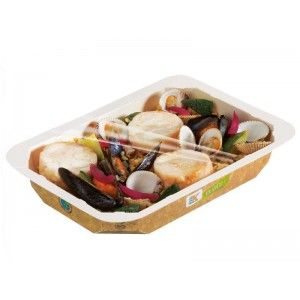 BARQUETTE SCELLABLE CARTON 500grs Barquette scellable et micro-ondable carton alphacel 500grs K Food Barquette alimentaire scellable 100 % étanche et 100 % recyclable