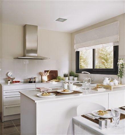 123 best cocinas images on pinterest kitchens modern - Ideas para decorar una casa pequena ...