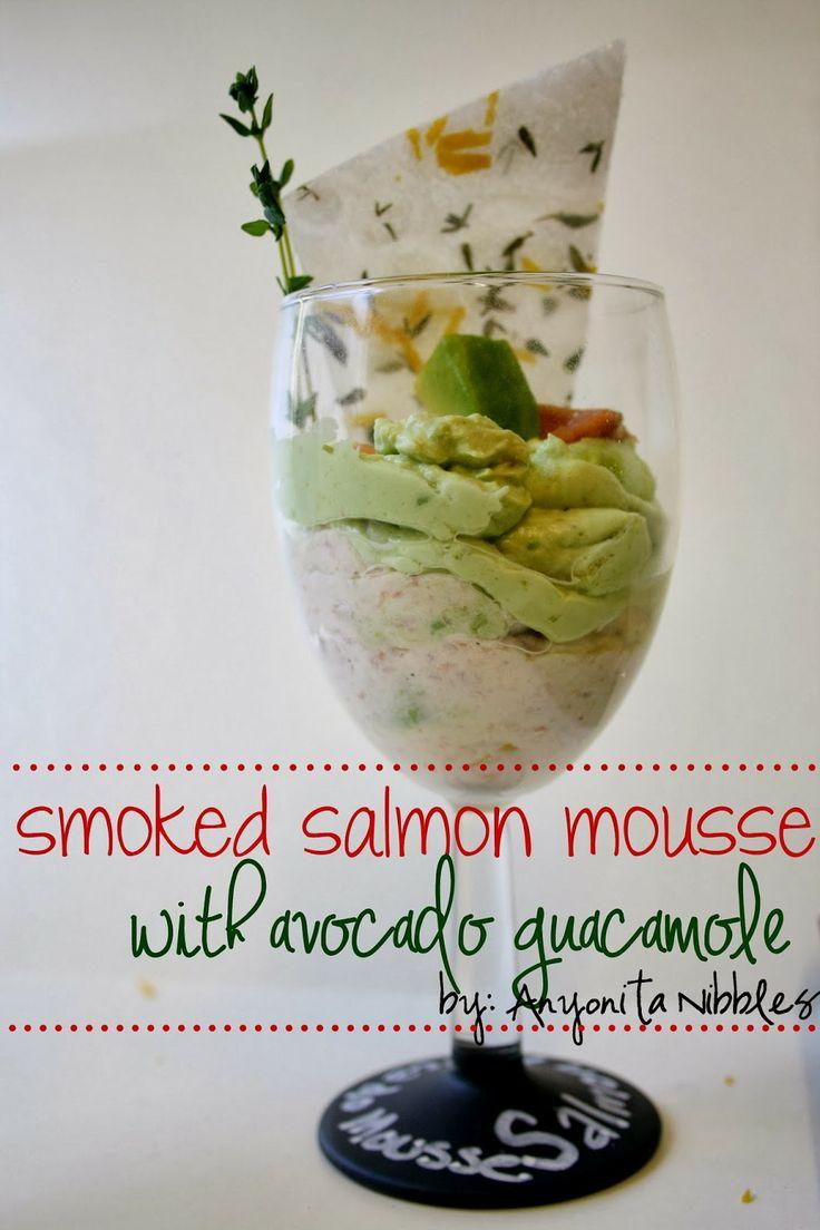 Verrine of Smoked Salmon Mousse with Avocado Guacamole