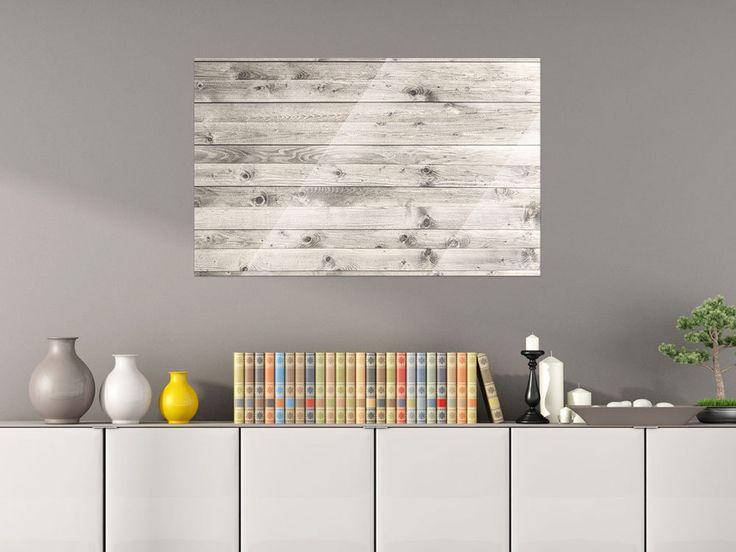 Glas Magnettafel Wandtafel Magnettafel für Wohnzimmer Holzplanken Maserung von…