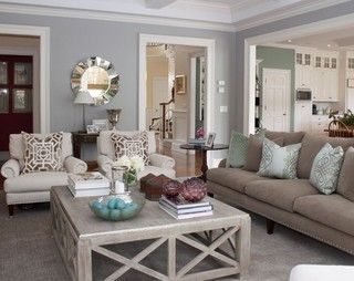 Love the colors used in this living room