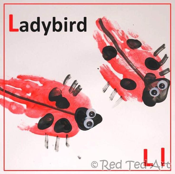 Handprint Alphabet – L is for Ladybird