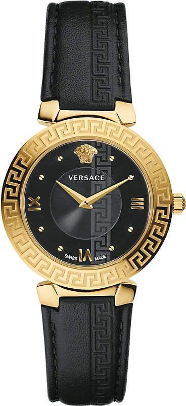 8f2010c474e Versace Divine gold and leather watch