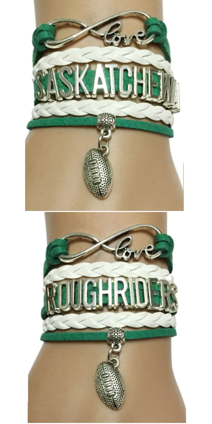 Do you love Sackatchewan Roughriders Football? Show the World with this Premium Hand-made Braided Leather Bracelet! Don't Miss our Giant Sales Event Going on Now. Make a great gift for the Roughrider fan.